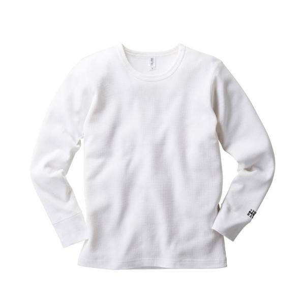 レイヤー 重ね着にワッフル長袖Tシャツ サーマルロンT (ロンT ロングT)通販 borders-store 04