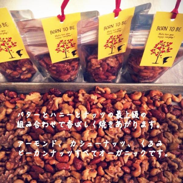 ナッツ Honey Nuts 90g 有機アーモンド 有機カシュー 有機ピーカン 有機くるみ|born-to-be|06
