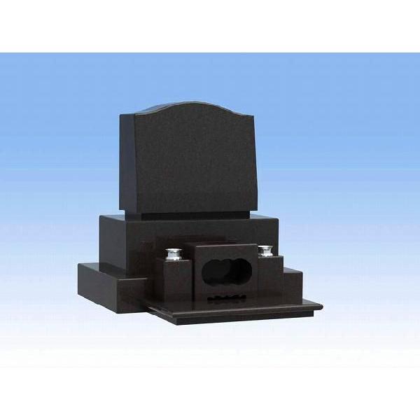 墓石 デザイン安心価格  洋墓三段のお墓 インド産黒御影石 クンナム