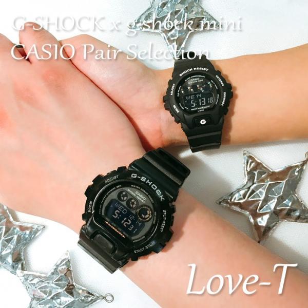 ペアウォッチ Gショック ミニ ペア G-SHOCK G-SHOCKmini ジーショックミニ ペア CASIO カシオ 腕時計 ブラック 黒 GD-X6900-1JF GMN-691-1AJF LOVE-T|bostonclub