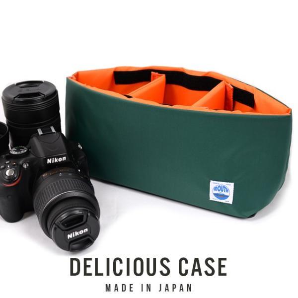 カメラケース 一眼レフ インナーケース ソフトクッションボックス 日本製 MOUTH Delicious case マウス デリシャスケース MJC12024 GREEN/ORANGE|bostonclub