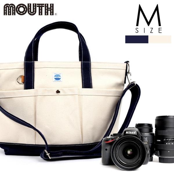 トートバッグ カメラバッグ 一眼レフ カメラトート 106トート Mサイズ ナチュラル ネイビー MOUTH マウス 日本製 MJT13032-NAT NVY