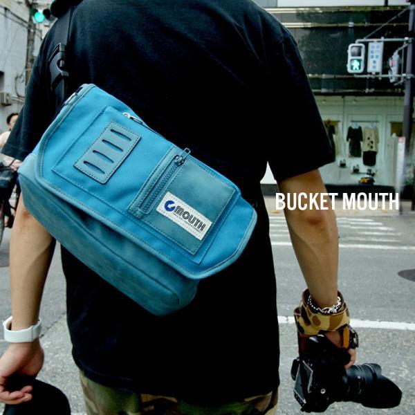 カメラバッグ MOUTH 一眼レフ ショルダー バッグ レンズ2本 BUCKET バケットマウス ミネラルブルー MSB09112-MINERAL/BLUE|bostonclub