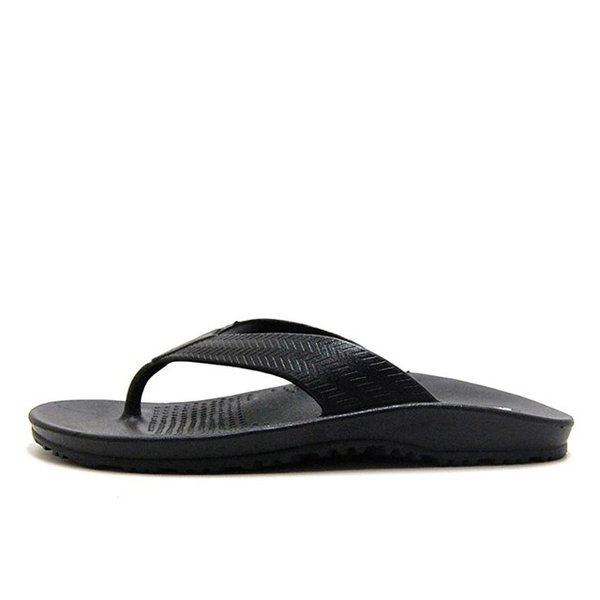 OKABASHI オカバシ メンズ サンダル Surf Flip Flop Black O-50001-010|bostonclub