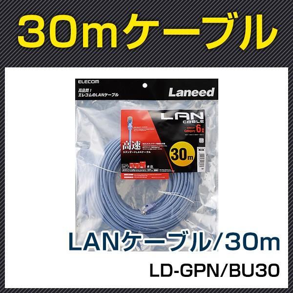 LD-GPN/BU30 Cat6準拠LANケーブル30m :ld-gpn-bu30:防犯宣言 - 通販 ...