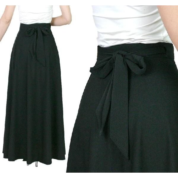 ロングスカート黒 巻きスカート コーラス 合唱 衣装 ウエストサイズ調節可能巻きスカート ブラック|bourree|04