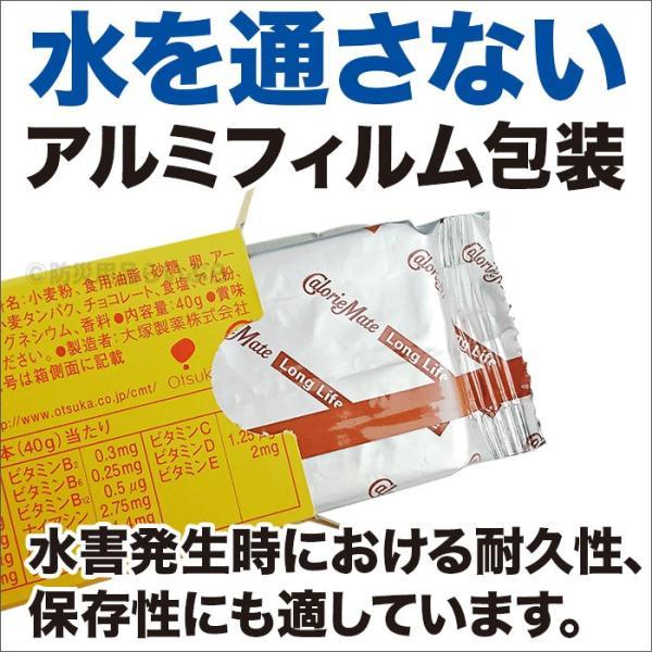非常食 保存食 カロリーメイト ロングライフ 2本入 チョコレート味|bousaikeikaku|02