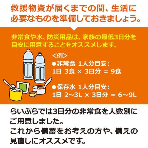 防災グッズ セット 4人用/非常食 3日分(36食)セット(防災セット 防災用品 保存食 アルファ米 カンパン パン)|bousaikeikaku|05