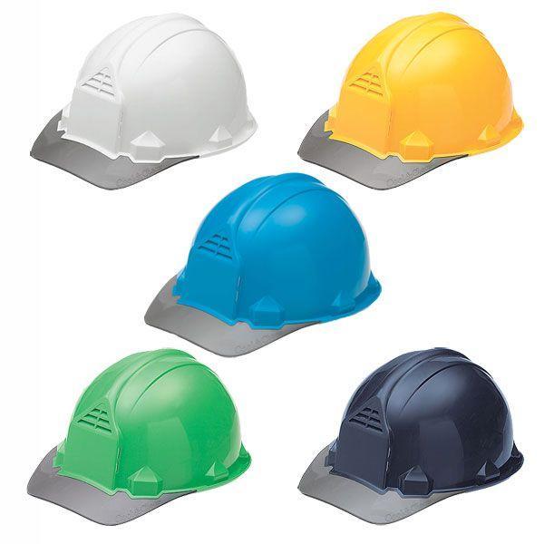 作業用 ヘルメット 通気性 工事 FP-1F(ライナー付) 建築土木用、アメリカン型 国家検定合格品 透明ヒサシ 通気孔