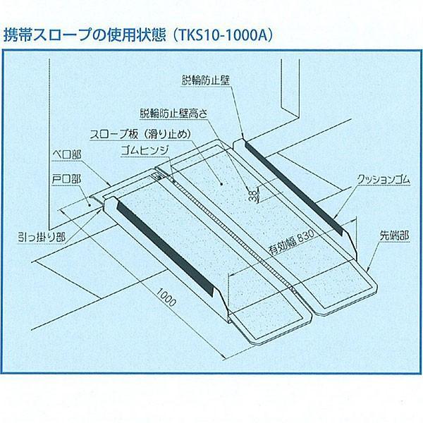 携帯スロープ FKS10-1000A【介護、福祉、介助、バリアフリー、高齢者】|bousaikeikaku|03