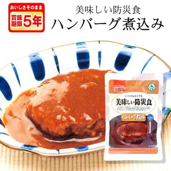 美味しい防災食 ハンバーグ煮込み(賞味期限5年7か月保存 防災グッズ 非常食 保存食 レトルト食品)