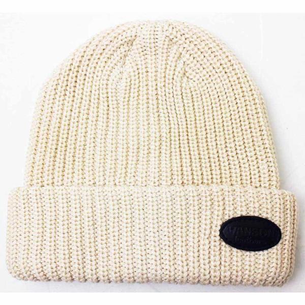VANSON(バンソン):レザーパッチリブワッチ/メンズ&レディース/ファッション ニットキャップ 帽子|boushikaban|04