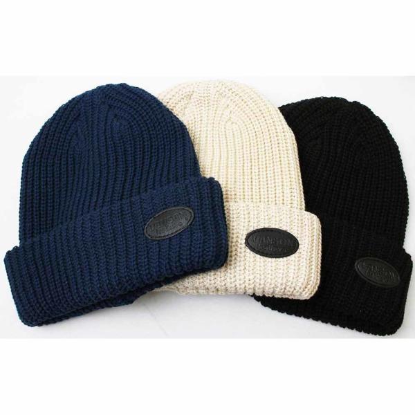 VANSON(バンソン):レザーパッチリブワッチ/メンズ&レディース/ファッション ニットキャップ 帽子|boushikaban|05