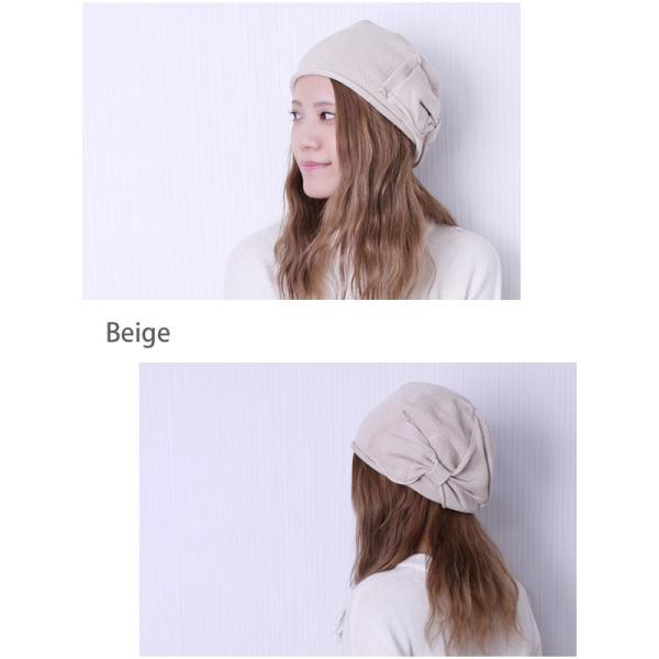 ベレー帽 コットン 医療用帽子 おしゃれ リボン 春 夏 秋|bousidreamwalk|10