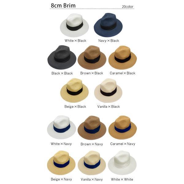 麦わら帽子 レディース メンズ つば広 UV ストローハット 大きいサイズ 帽子|bousidreamwalk|02
