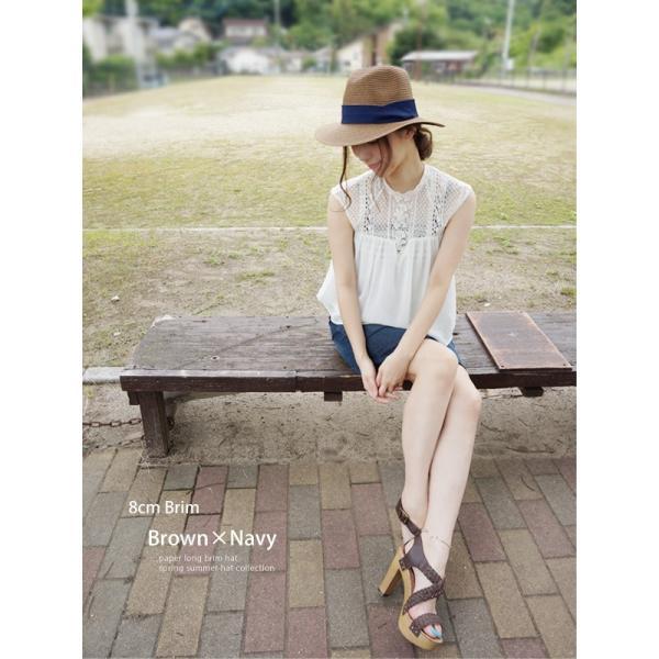 麦わら帽子 レディース メンズ つば広 UV ストローハット 大きいサイズ 帽子|bousidreamwalk|14