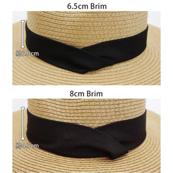 麦わら帽子 レディース メンズ つば広 UV ストローハット 大きいサイズ 帽子|bousidreamwalk|07