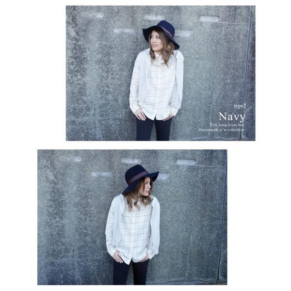 中折れハット つば広 メンズ レディース 大きいサイズ 秋冬 フェルト 帽子|bousidreamwalk|10