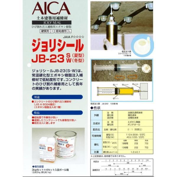 ジョリシール補修用エポキシ樹脂 JB-23(S・W) 3kgセット×4セット入り AICA アイカ bousui-must 02