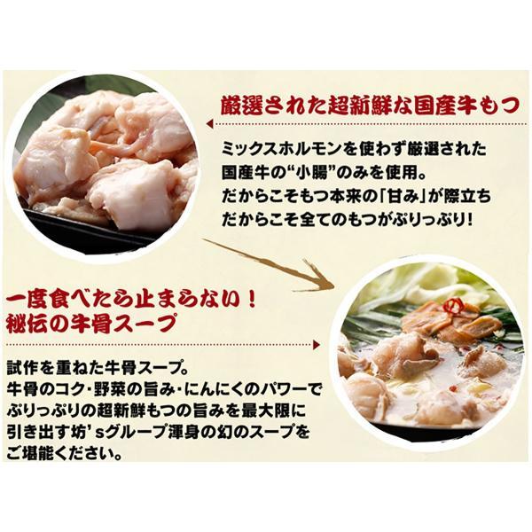 もつ鍋 セット 取り寄せ 牛もつ鍋 2〜3人前・ちゃんぽん麺付  送料別 bouzu-mothunabe 04