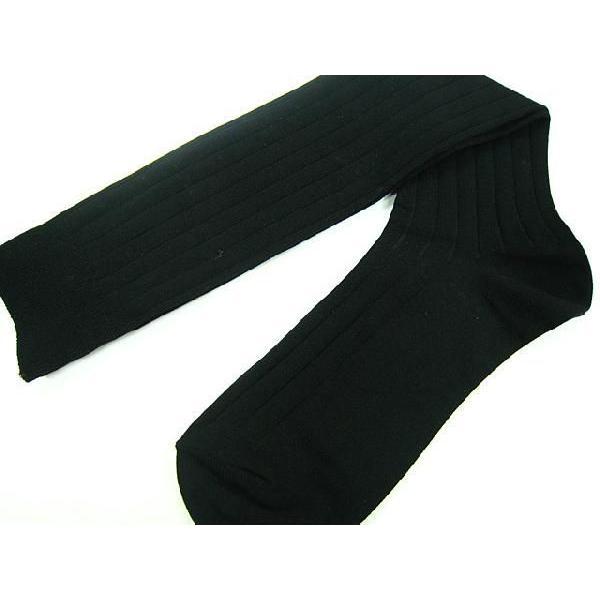 靴下 メンズ ハイソックス シルケット加工 リブ編み 【2足までメール便可能】対象商品|box408|02
