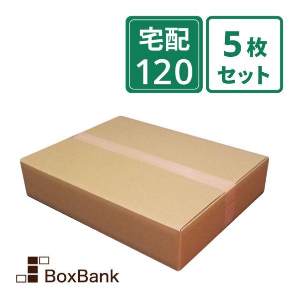 ダンボール 段ボール箱 宅配 120 サイズ アパレル用 5枚セット 毎日出荷