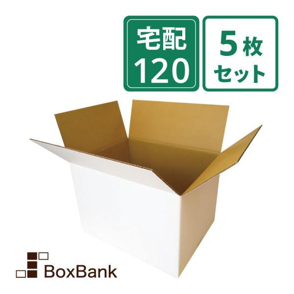 ダンボール 段ボール 白 120サイズ (46×35.5×32cm) 5枚セット 引っ越し ダンボール箱 120 展示 アート 毎日出荷