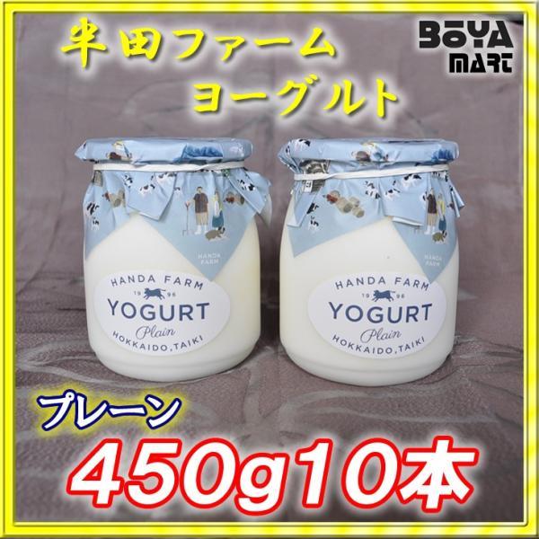 半田ファーム 濃厚ヨーグルト【プレーン】450g10本