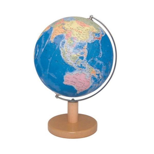 地球儀 子供用 行政図タイプ 昭和カートン インテリア地球儀 日本製 球径21cm 21-GM