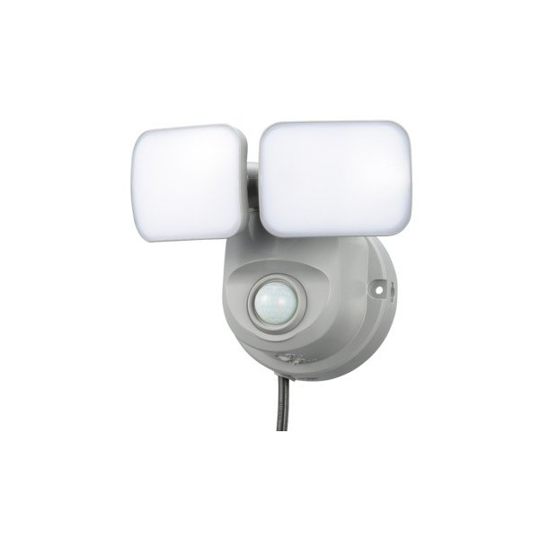 OHM オーム電機 人感センサーライト コンセント式 2灯 OSE-LS800