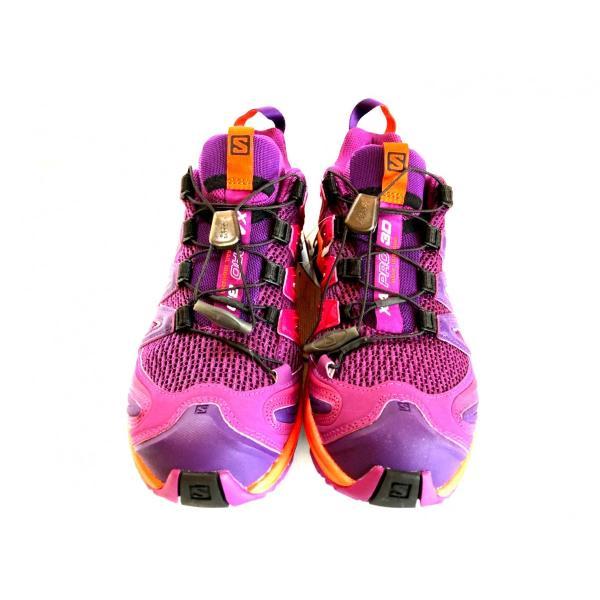 レディース 登山 トレッキング 靴 アウトドア パープル サロモン SALOMON XA PRO 3D 22.5cm 24.0cm|brace-revo|02