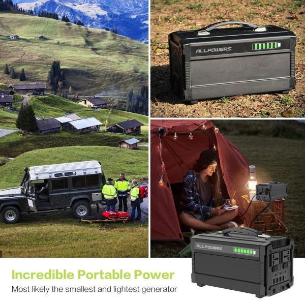 ALLPOWERS ポータブル電源 288Wh 78000mAh 家庭用蓄電池 小型発電機 USB AC DC 出力対応 正弦波 携帯便利|braggart4|05