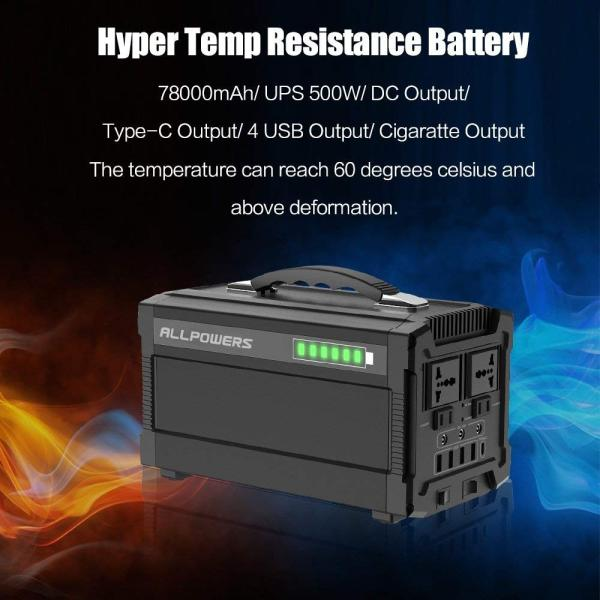 ALLPOWERS ポータブル電源 288Wh 78000mAh 家庭用蓄電池 小型発電機 USB AC DC 出力対応 正弦波 携帯便利|braggart4|07