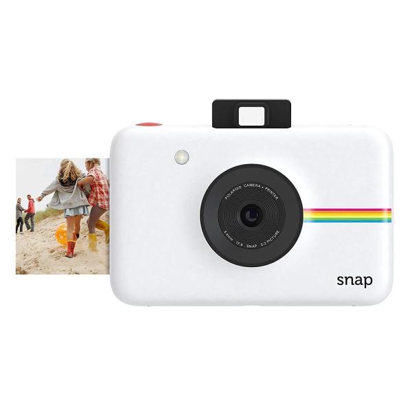 データも保存できるポラロイド Snap デジタルインスタントカメラ (ホワイト) プリンタ内蔵 ZINK フォトペーパー対応 (White)