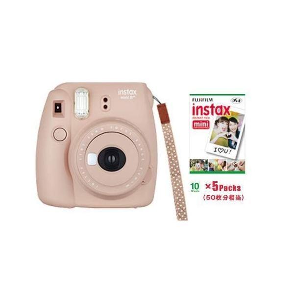 FUJIFILM インスタントカメラ instax mini 8+(プラス) ココア&フイルム50枚セット