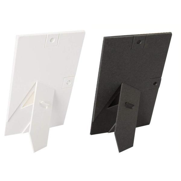 Chikuma フォトフレーム 貼り付けフォトスタンドPate チェキ ホワイト/ブラック 2枚入り 15409-9