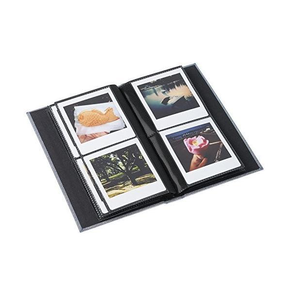 エツミ E-5505フォトアルバムエポカ チェキスクエア対応 40枚用 グレー