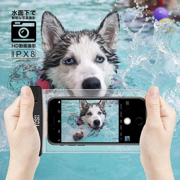 防水ケース スマホ用 携帯防水ケース YOSH? IPX8認定 2枚セット iPhone/Android 6インチ以下全機種対応 お風呂/温|braggart4|09