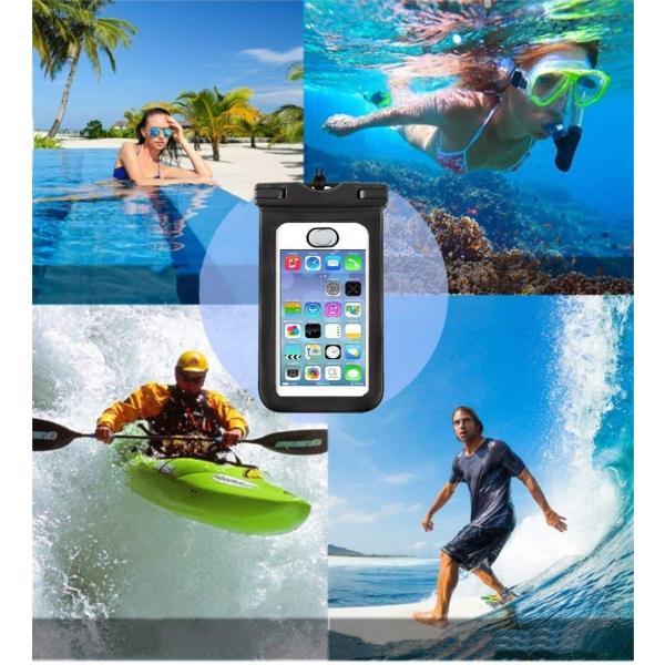 Othurgi 防水ケース スマホ用指紋認証対応iPhone X/8/7/6/Plus 6インチまで対応 海水浴 潜水 お風呂 水泳 砂浜|braggart4|02