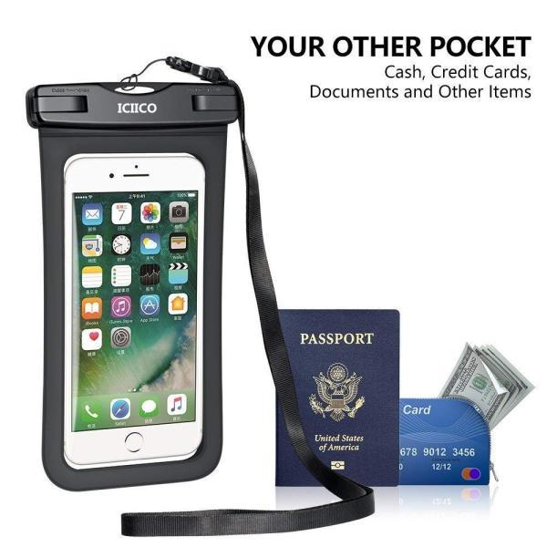 防水ケース スマホ携?用 IPX8認定 指紋認証 iPhone X/8/7/6対応 iPhone/Android 6インチ以下全機種対応 お braggart4 02