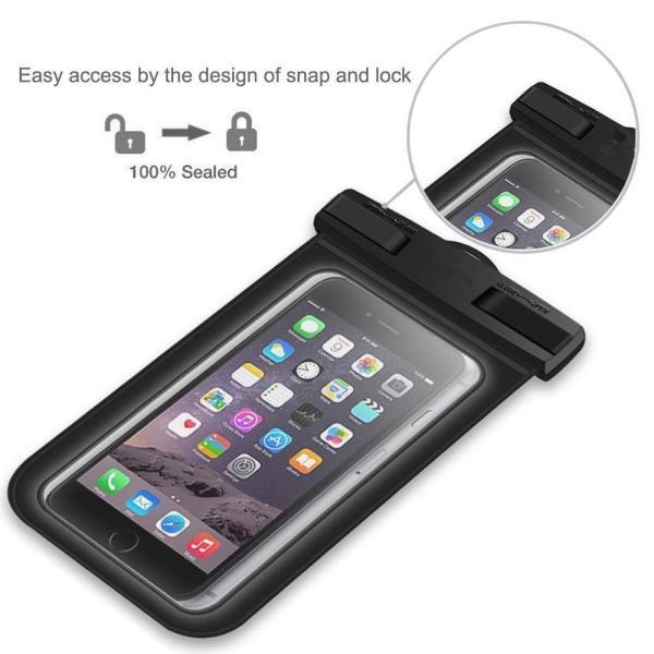 防水ケース スマホ携?用 IPX8認定 指紋認証 iPhone X/8/7/6対応 iPhone/Android 6インチ以下全機種対応 お braggart4 03