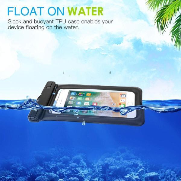 防水ケース - ATiC 6.8インチ以下スマホ用首掛け式ダイビングバッグ ストラップ付き IPx8防水レベル iPhone Xs/iPho|braggart4|02