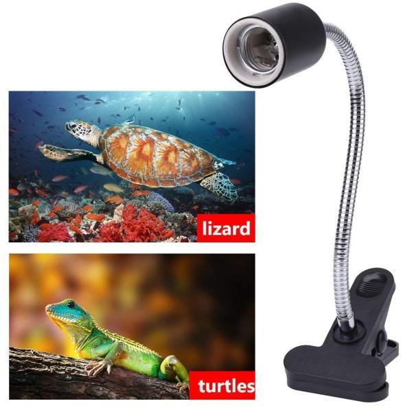 両生類用ライト クリップ ランプシェード 爬虫類 カメ 調整可能 暖房ライトホルダー 水族館 ランプ ランプフィクスチャ 水族館 ランプ U