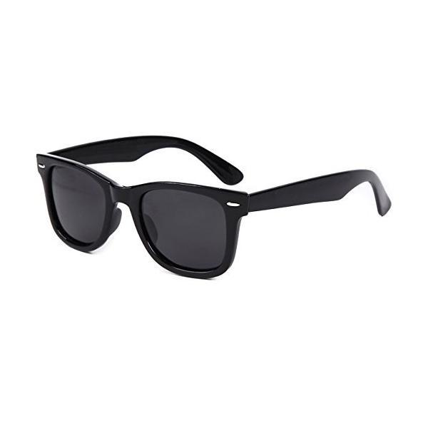 (フェリー) FERRY 偏光レンズ ウェリントン サングラス ポーチ&クロス セット ユニセックス ブラック braggart4