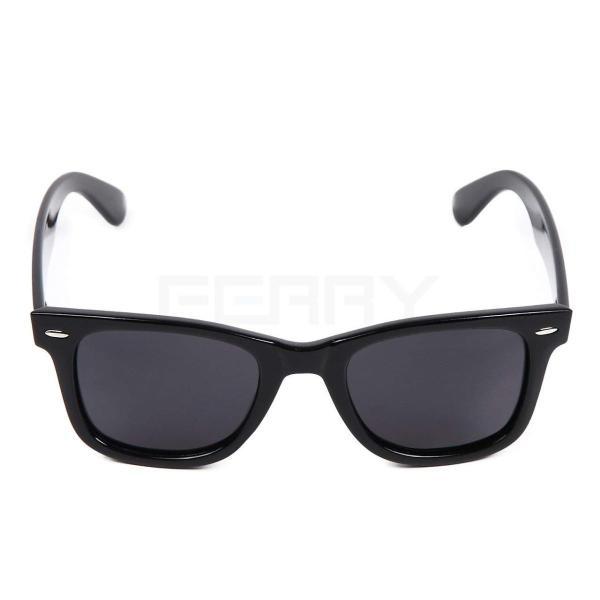 (フェリー) FERRY 偏光レンズ ウェリントン サングラス ポーチ&クロス セット ユニセックス ブラック braggart4 02