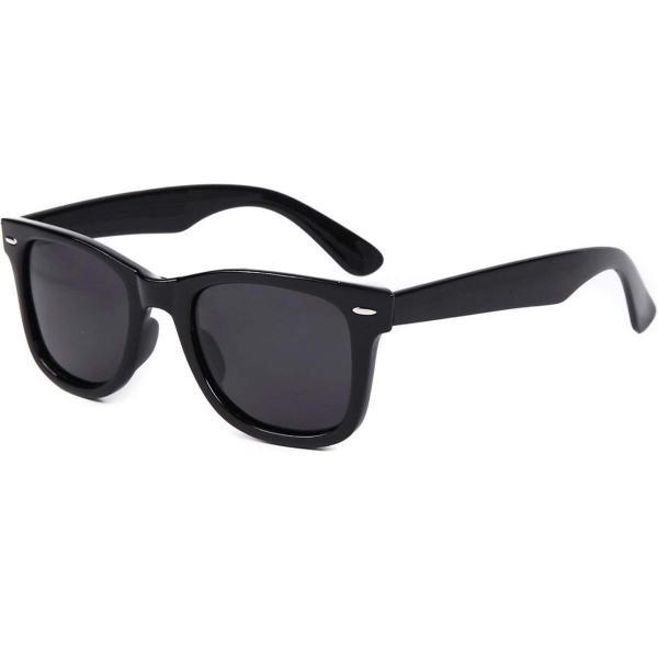 (フェリー) FERRY 偏光レンズ ウェリントン サングラス ポーチ&クロス セット ユニセックス ブラック braggart4 07