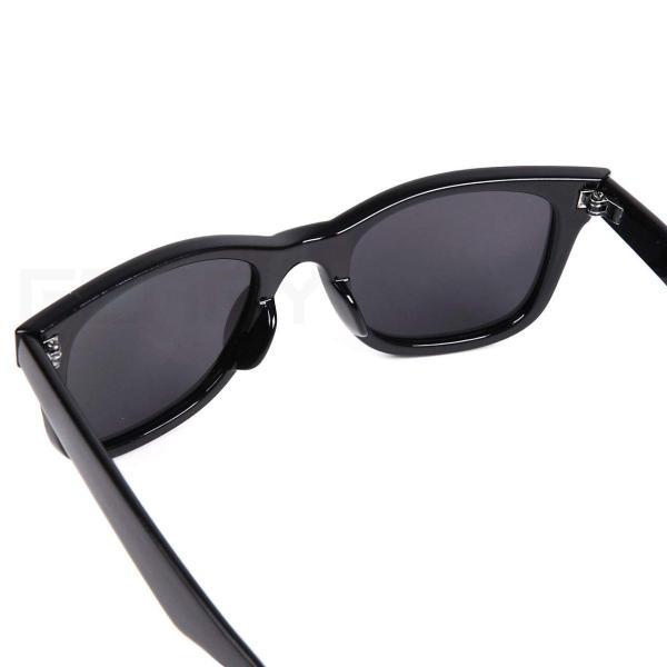 (フェリー) FERRY 偏光レンズ ウェリントン サングラス ポーチ&クロス セット ユニセックス ブラック braggart4 08