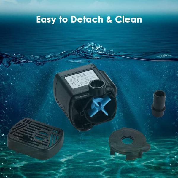 LEDGLE 水中ポンプ 小型ポンプ ミニ 排水ポンプ 池ポンプ 水槽 循環ポンプ 潜水ポンプ 静音 揚程60-80cm 吐出量300L/H|braggart4|04