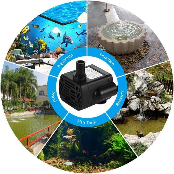 LEDGLE 水中ポンプ 小型ポンプ ミニ 排水ポンプ 池ポンプ 水槽 循環ポンプ 潜水ポンプ 静音 揚程60-80cm 吐出量300L/H|braggart4|06