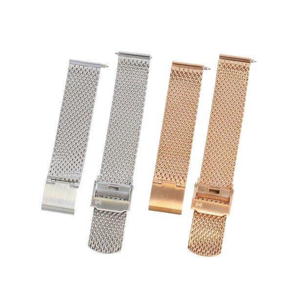 SKAGEN スカーゲン バンド ベルト メッシュ ダブルロック 交換 SKW2446 SKW2447 ハルド ソーラー 純正 バネ棒付き シルバー ローズゴールド 腕時計 修理|brain-products